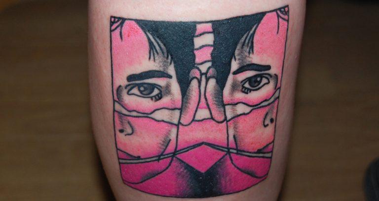Brandon Teena inspirerad av filmaffischen. Tatuering i oldscool stil av tatuerare Sara Swanson.